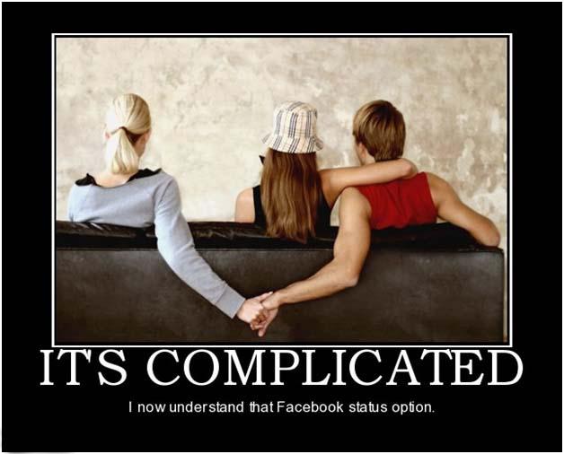 facebook staus demotivational poster