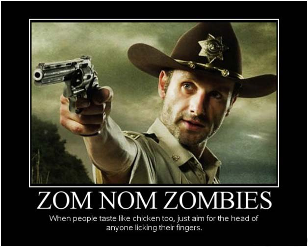 zom nom zombies demotivational poster