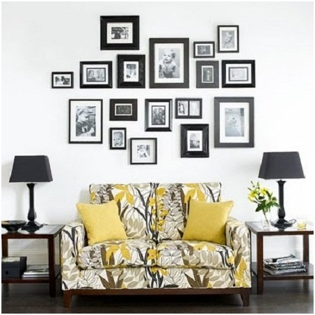 A-Set-of-Photos-Placed-Above-the-Sofa