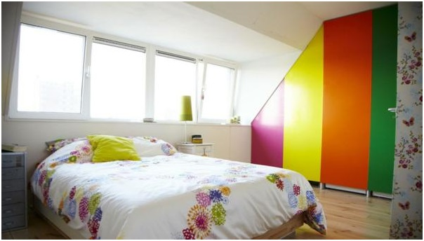 colored bedroom design