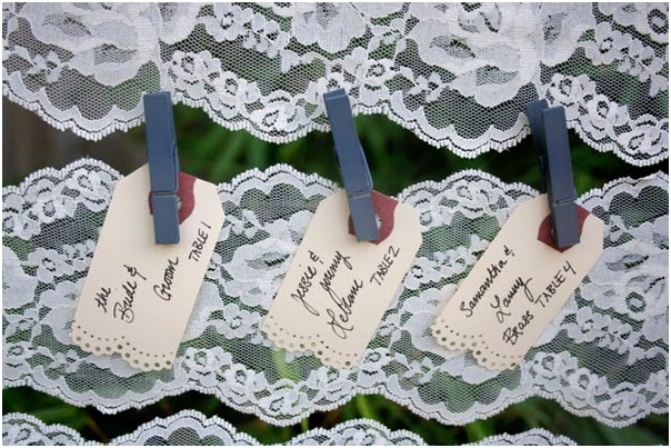 A Lace Escort Card