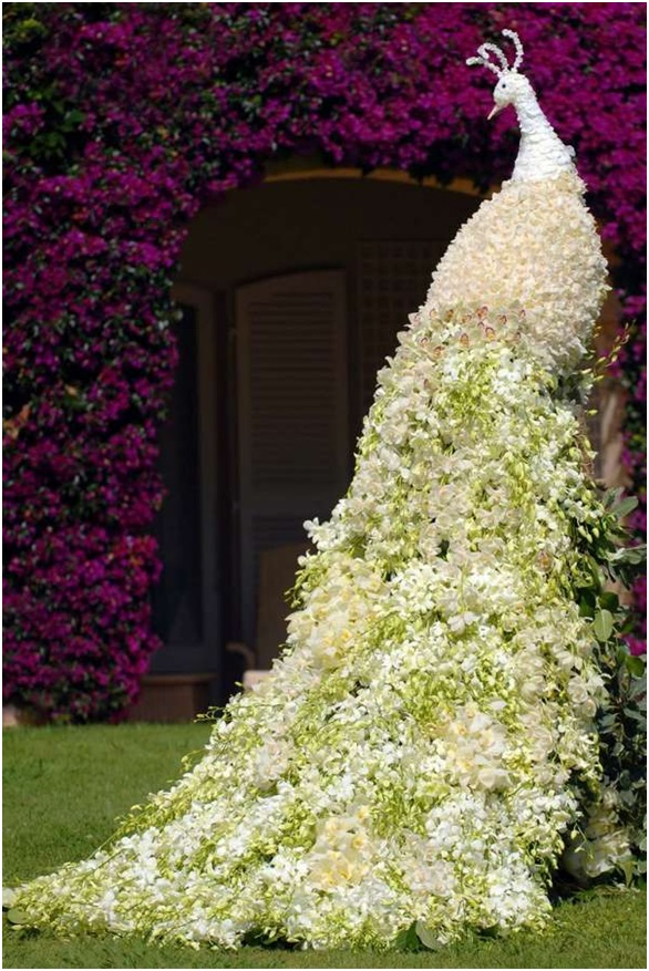 A Wedding Flower Sculpture