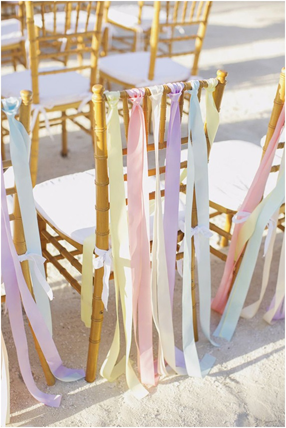 Chairs Decorated with Ribbons