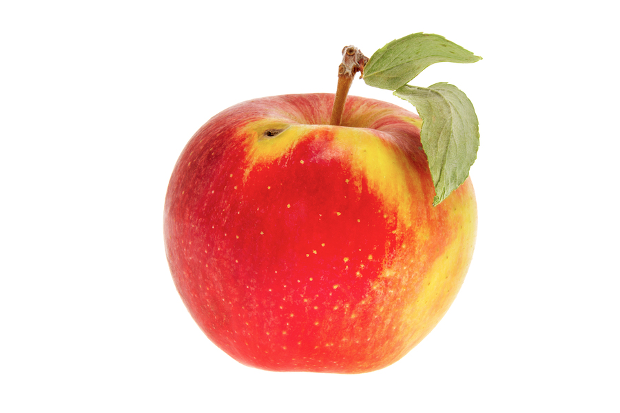 An Apple is Shown from a Wrong Side