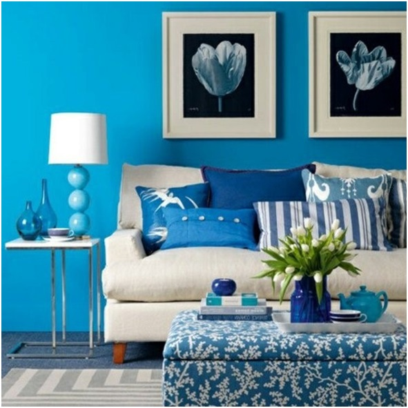 Blue Living Room Walls Modern House Part 52