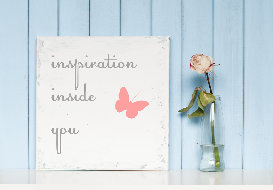 Canvas with a Motivational Quote