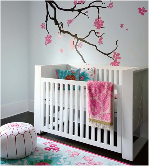 A Flower Themed Baby Room
