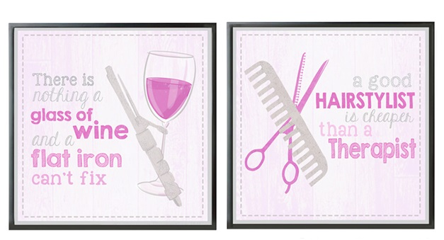 A Funny Hair Salon Poster