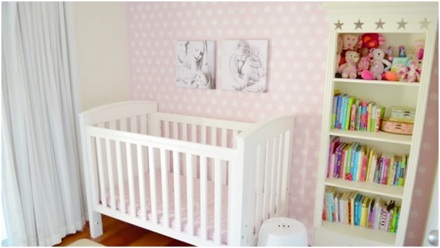 A Polka Dotted Baby Girl Room