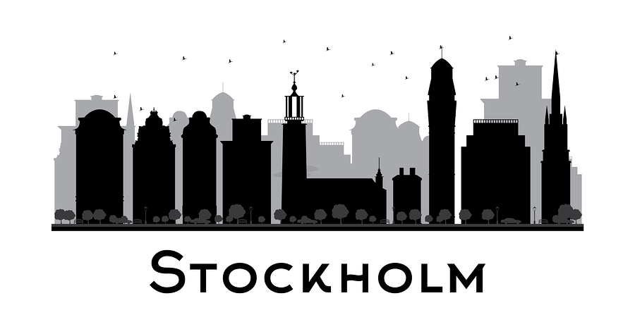 A stockholm silhouette poster