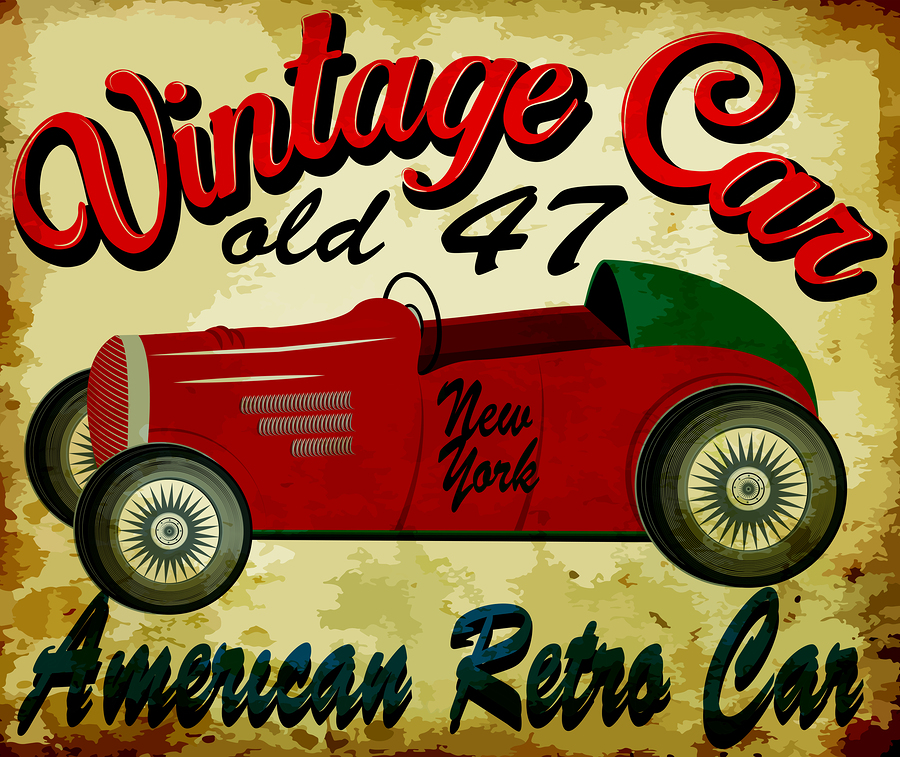 A Vintage Car Poster