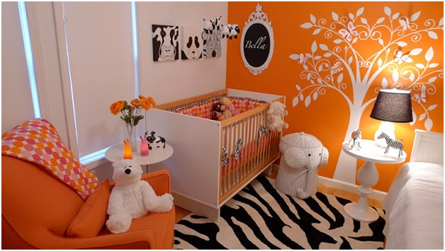 An Orange Baby Room. Baby Room Wall D cor Ideas  Tips for Careful Parents