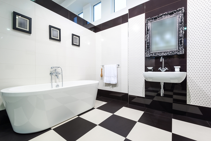 A Black and White Bathroom