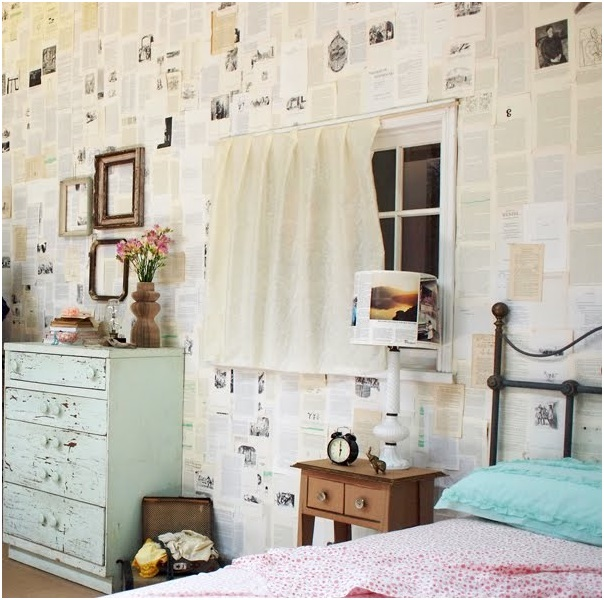 Book Pages Wall Decor