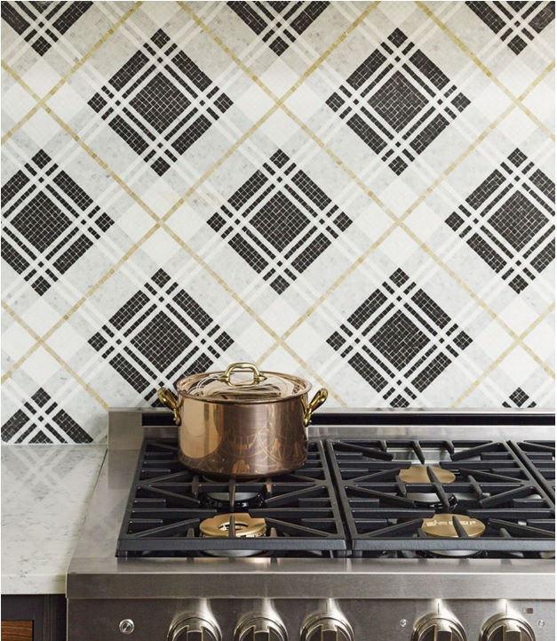 Burberry-Inspired Kitchen Tiles