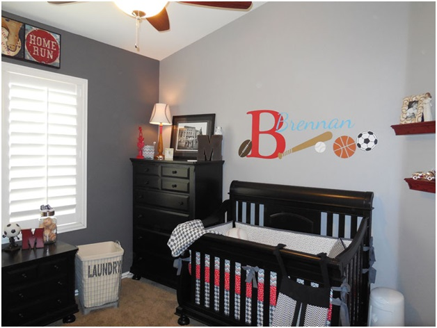 sports theme for a baby boy room