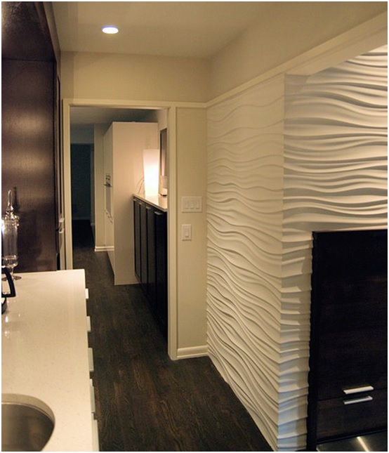 Textured Bathroom Walls