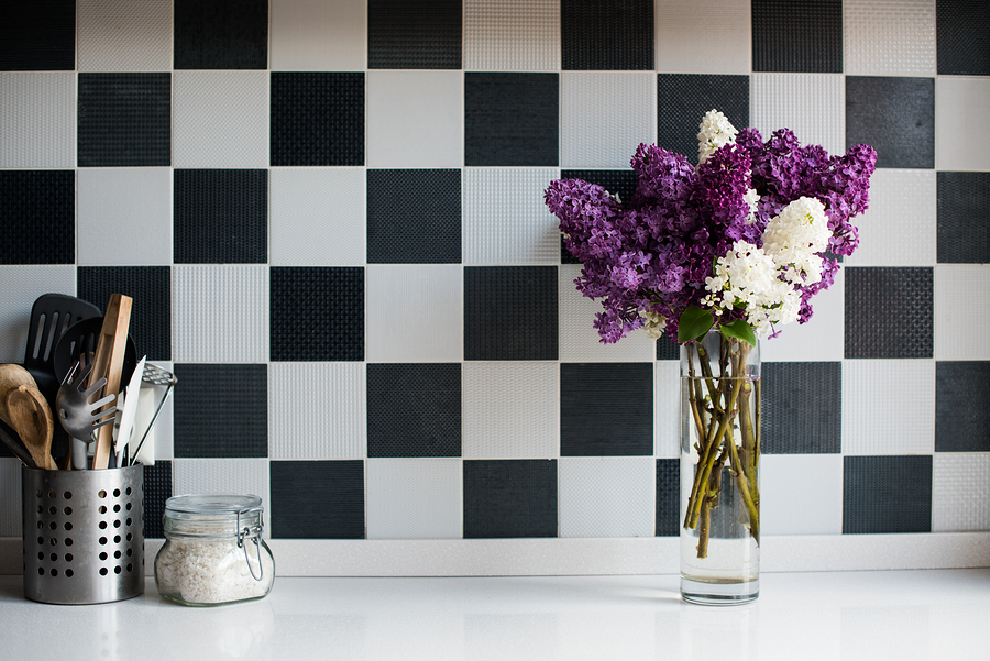 Black & White Kitchen Tiles