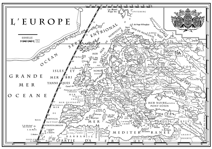 An Old European Map Poster