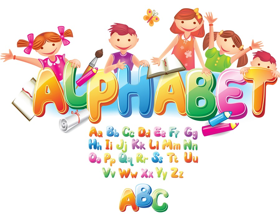 A Mouse Pad Print with Alphabet