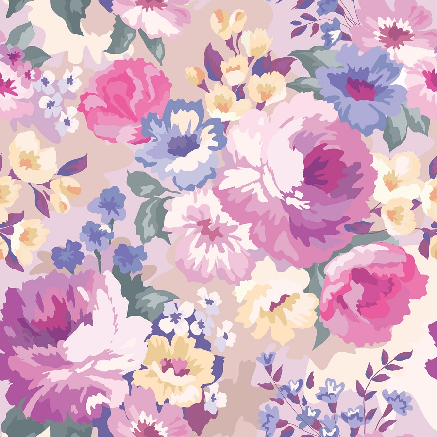 A Floral Mouse Pad Pattern