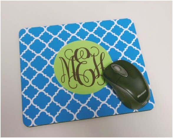 A Mouse Pad with Initials