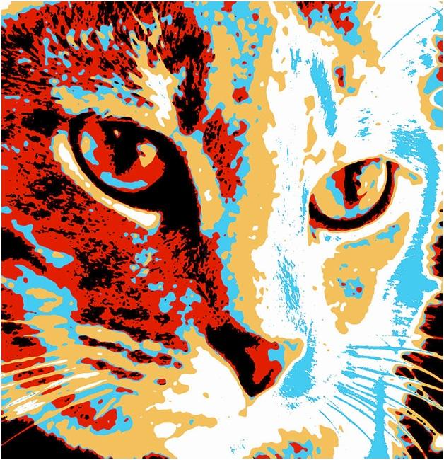 A Pop Art Cat Print