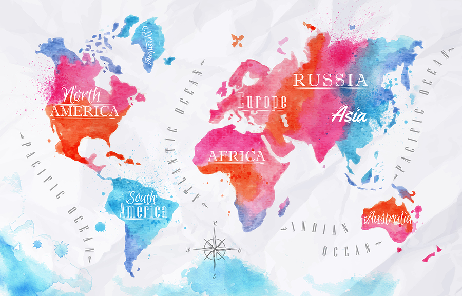 World map posters kinds styles and interesting designs a watercolor world map poster gumiabroncs