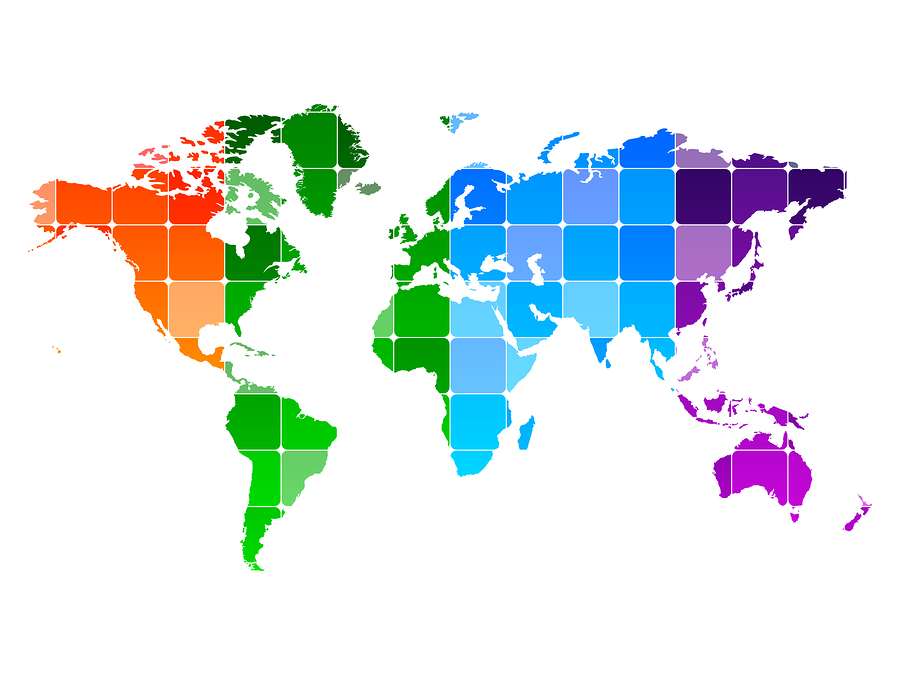 An Abstract World Map Poster