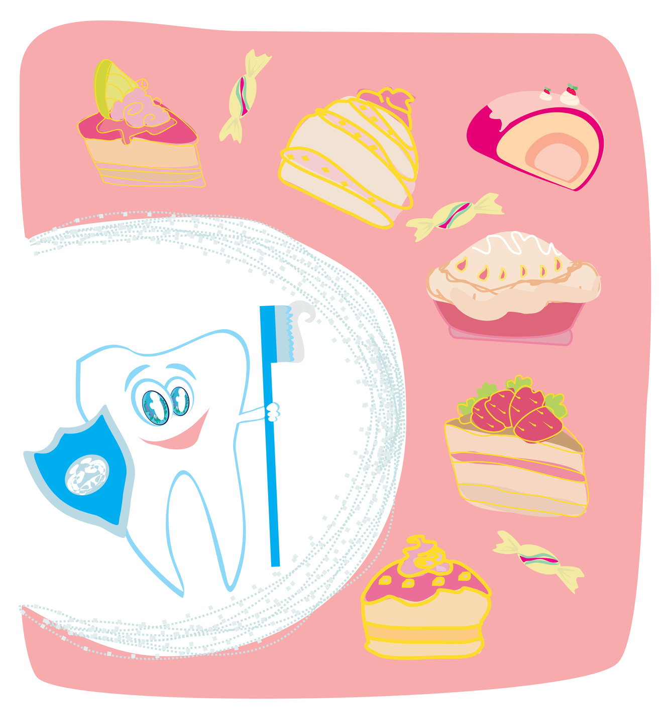 A Funny Teeth Care Poster