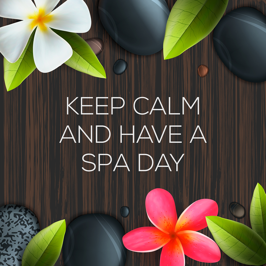 A Spa Keep Calm Poster