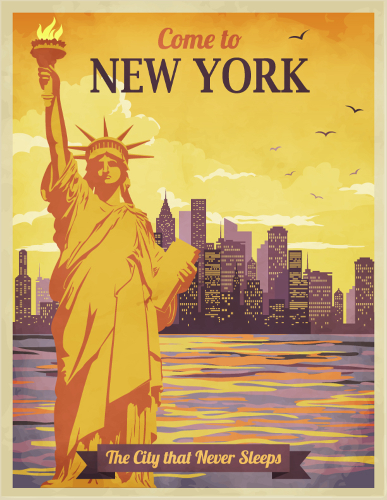a new york poster a great wall decor idea for new york. Black Bedroom Furniture Sets. Home Design Ideas
