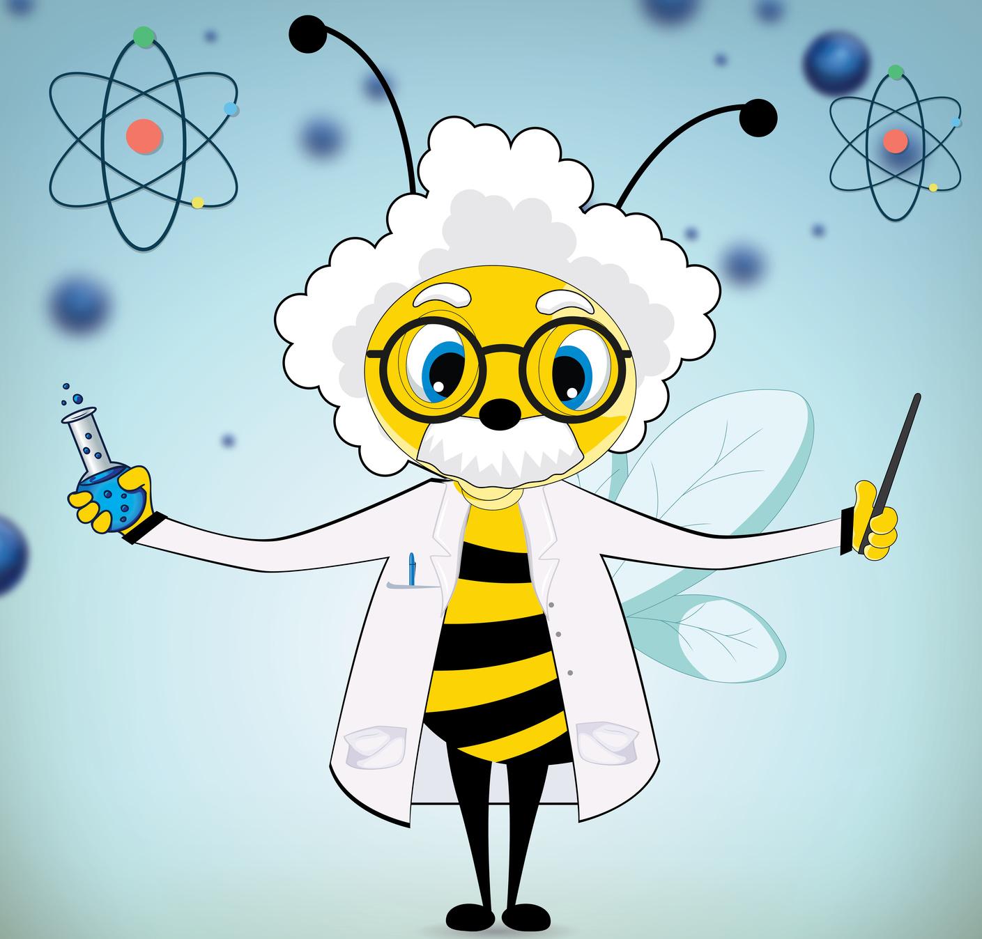 An Einstein Bee Poster