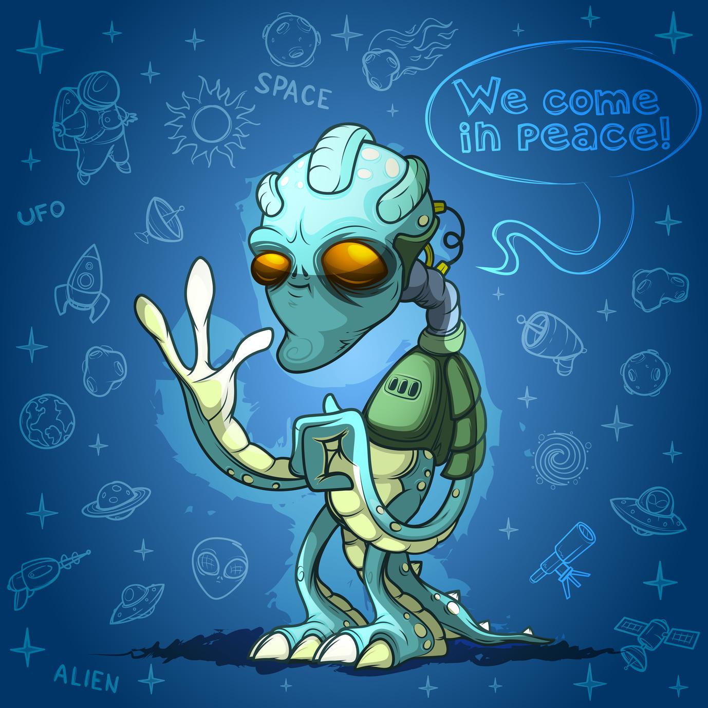 A Trippy Alien Poster
