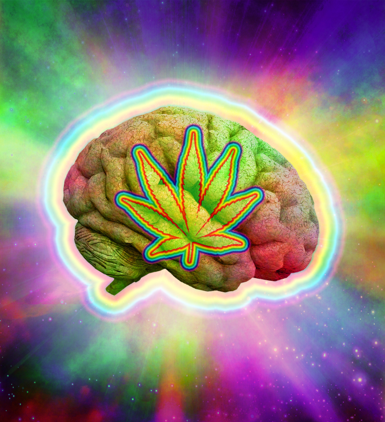 A Trippy Weed Poster
