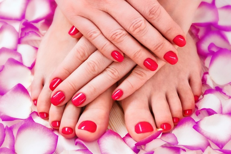 A Manicure and Pedicure Poster