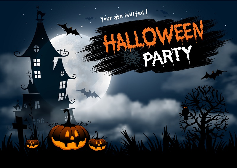 A Halloween Party Poster