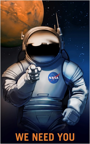 A NASA Recruitment Poster