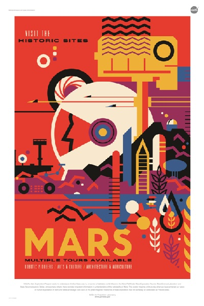 A NASA Space Travel Poster