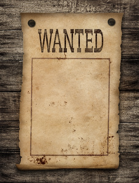 A Wanted Poster Template for Kids