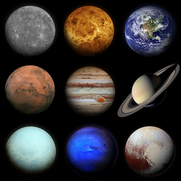 The Planets of the Solar System Poster