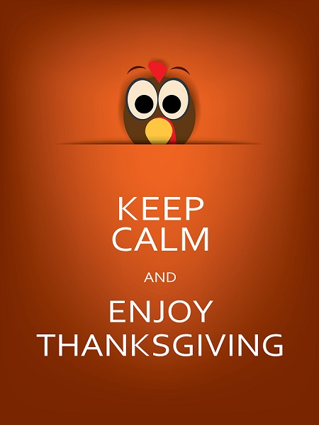 A Keep Calm Thanksgiving Poster