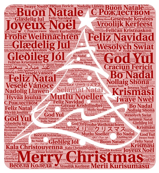 A Merry Christmas in Many Languages Poster