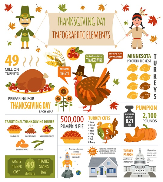 A Thanksgiving Infographic Poster
