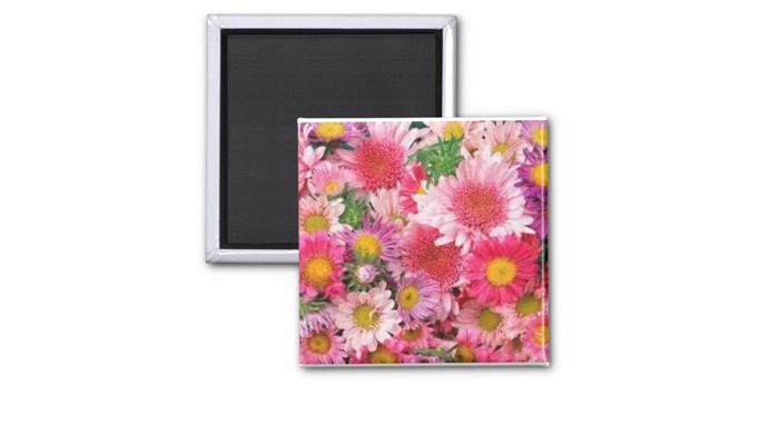 A Flower Print for a Magnet