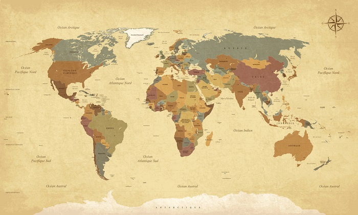 A Vintage World Map Poster