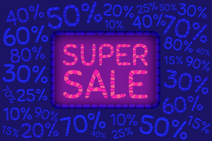A Super Sale Banner