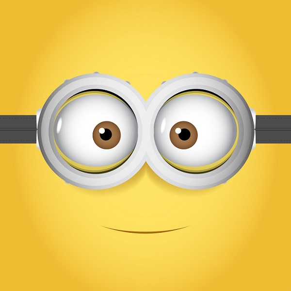 A Funny Print of a Minion's Eyes