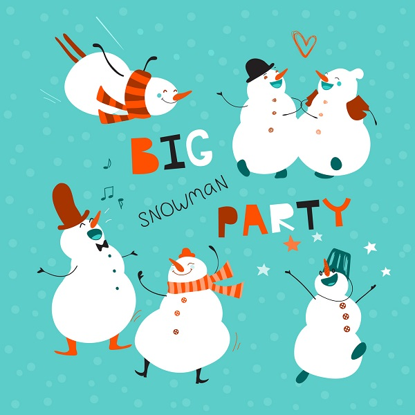 A Funny Snowmen Print