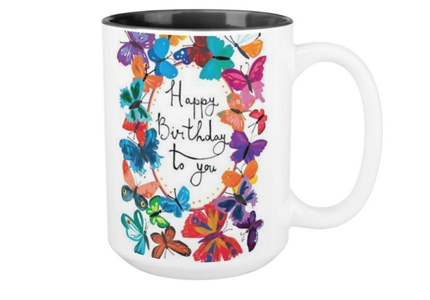 A Happy Birthday Print for a Mug